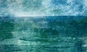 Landschaft, blau