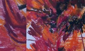 Triptychon Blütenfeuer