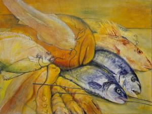 kunstreiche: Acryl, Pastell. Fische