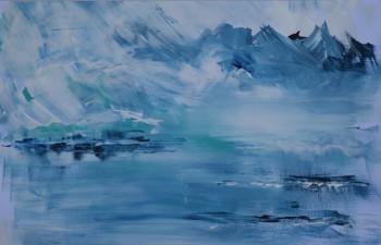 Landschaft, blau.