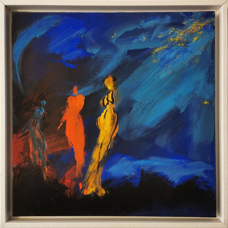 """Mein erstes selbst gekauftes Bild: das Kunstwerk """"Nachtschwaermer"""" von Tanja Schoenberg"""