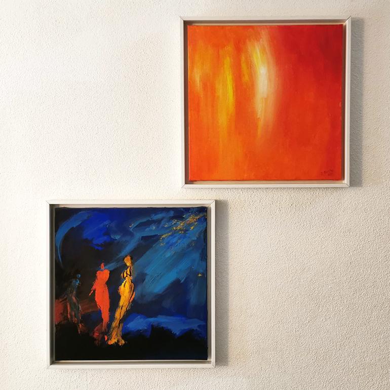"""Mein erstes selbst gekauftes Bild: das Kunstwerk """"Nachtschwärmer"""" von Tanja Schönberg im Dialog mit Nachwärmer von Dagmar Reiche"""