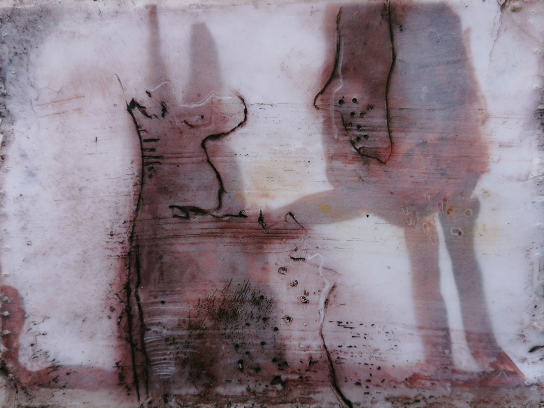 kunstreiche Freunde | 11x15 Wachs geschichtet auf Papier
