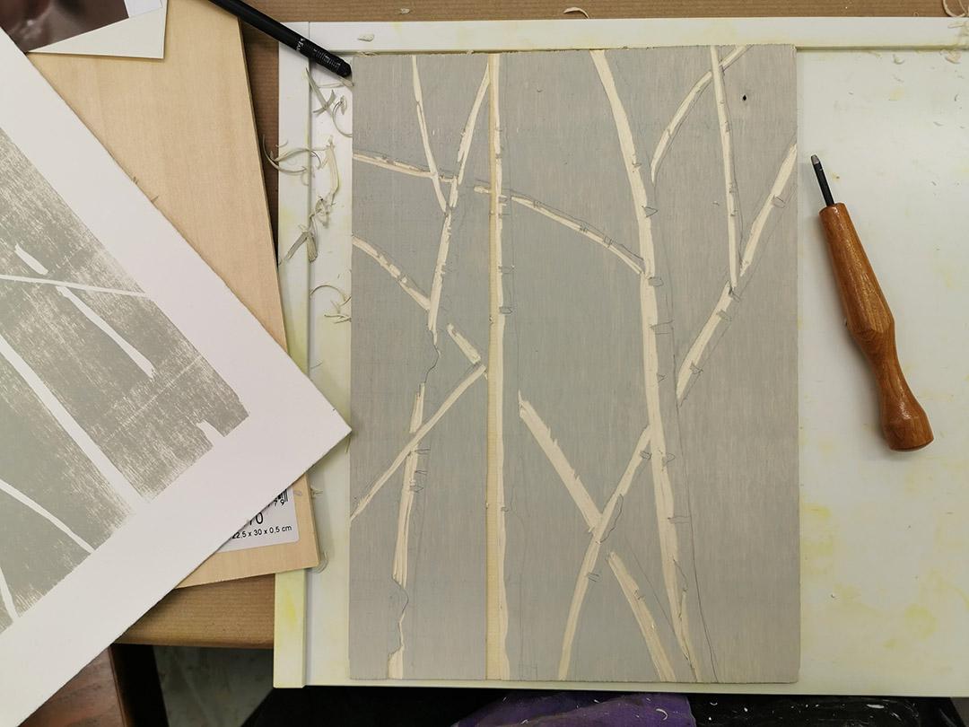 Kunstreiche_Holzschnitt-Birken Prozess