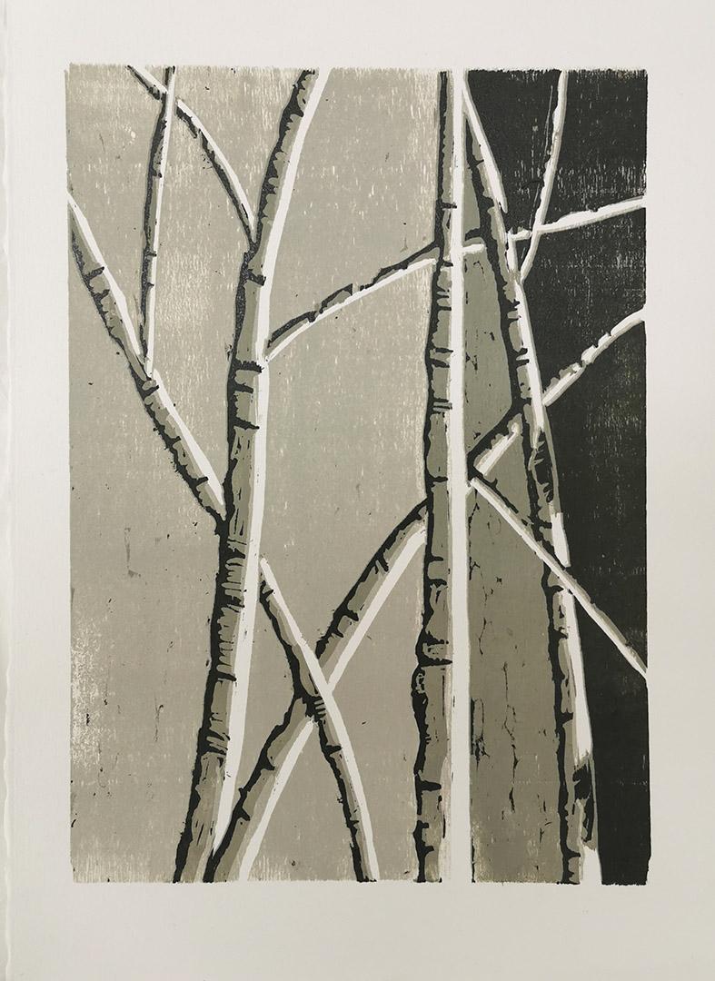 Kunstreiche Holzschnitt Birken Auflage 3