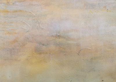 kunstreiche Die Stille der Welt erhorchen Pigmente, Acryl, Kreide auf Leinwand Detail 1