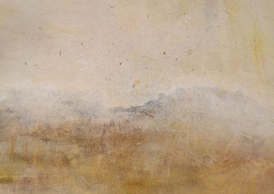 kunstreiche Die Stille der Welt erhorchen Pigmente, Acryl, Kreide auf Leinwand Detail 2