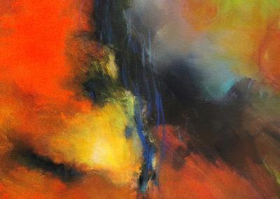 kunstreiche Dem Nebel entfliehen 80x100cm Acryl auf Leinwand Detail 1