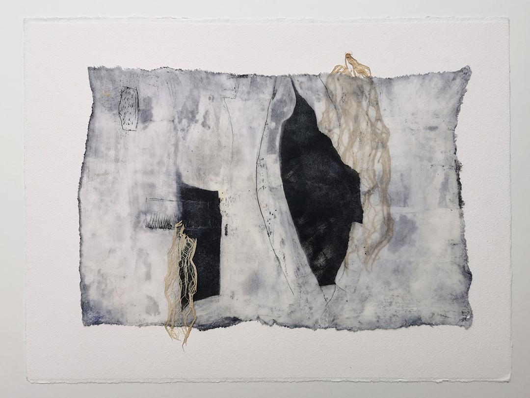 Kunstreiche Dreaming Bridges Wachs, Fasern auf Papier