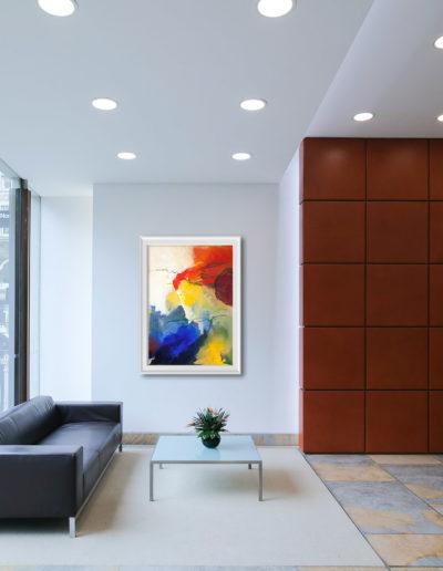 kunstreiche Farbenrausch 1 Bild an Wohnzimmerwand