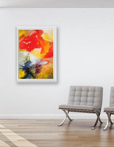 kunstreiche Farbenrausch 2. Bild an Wohnzimmerwand