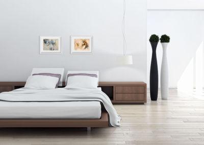 kunstreiche Formentanz Bewegtes an Schlafzimmerwand
