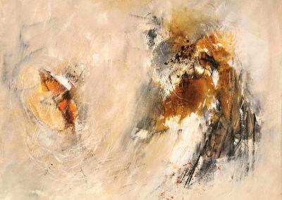 kunstreiche Formentanz: Acryl auf Malkarton 30x40 cm