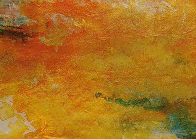 kunstreiche_Ich-waerme-mich-an-deinem-Blick Acryl auf Filzpappe Detail 2