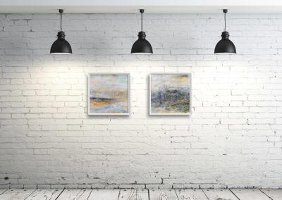 kunstreiche Landschaft, abstrakt (1) an Wand