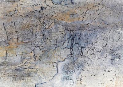 kunstreiche Landschaft, abstrakt (2) Marmormehl, Strukturmasse, Pigmente, Eitempera auf Leinwand Detail 2