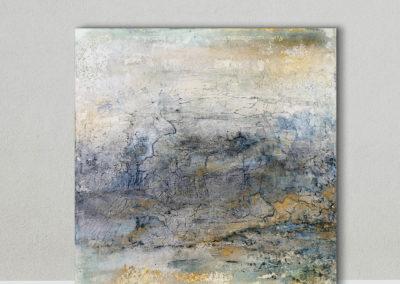 kunstreiche Landschaft, abstrakt (2) stehend vor Wand