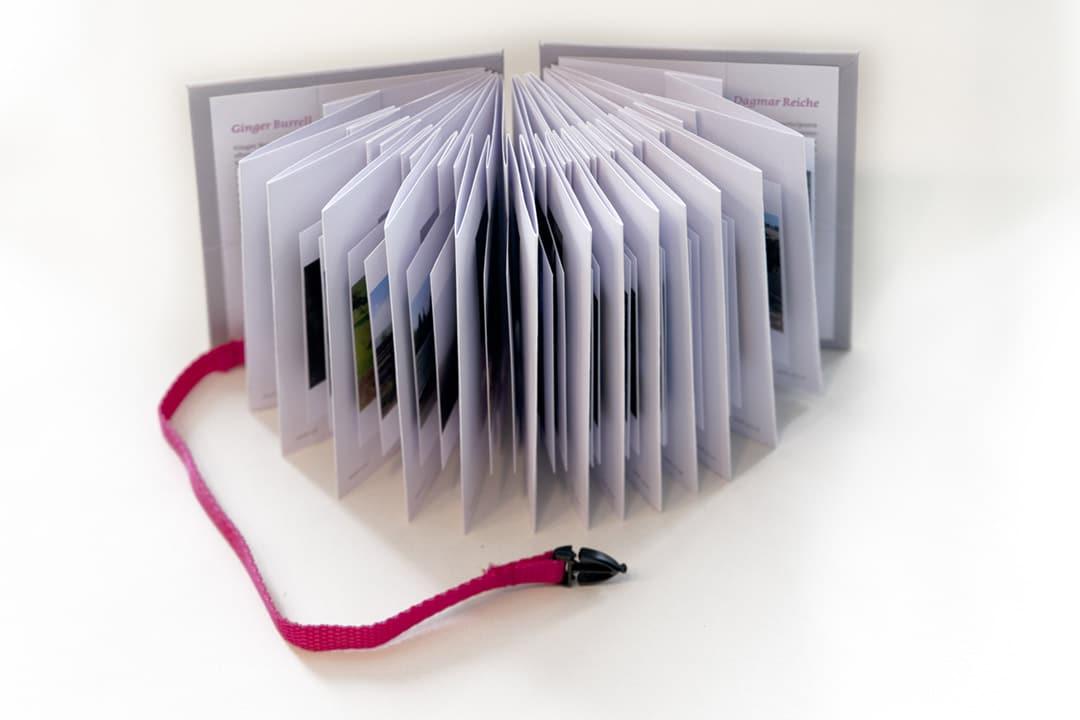 kunstreiche Picturing Dialogue Artist's Book 105x130 mm 34 Seiten