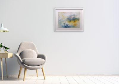 kunstreiche Sanft: Acryl auf Malkarton 30x40 an Wand
