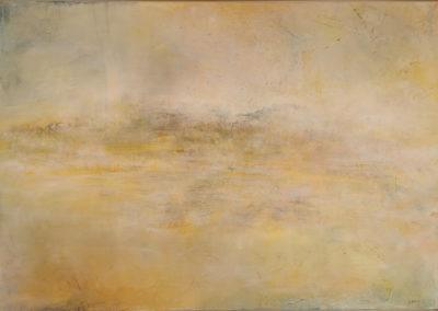 kunstreiche Die Stille der Welt erhorchen Pigmente, Acryl, Kreide auf Leinwand