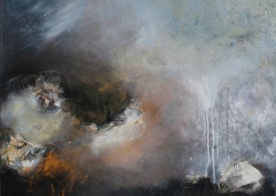 kunstreiche Gewaltig (2) Acryl , Kreide, Sand, Papier auf Leinwand 80x100 cm