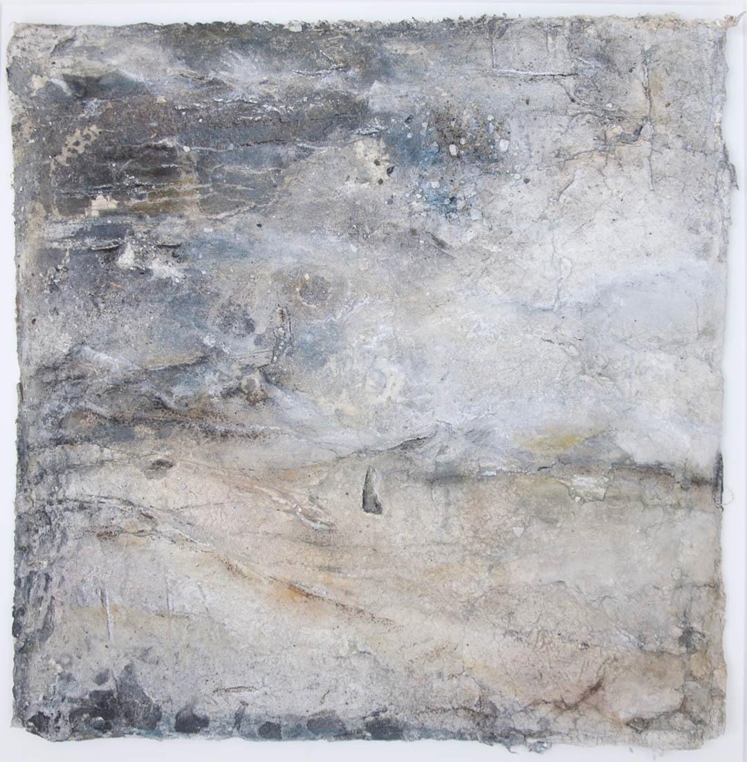 kunstreiche Seelenlandschaften (9) | 40x40 cm Sumpfkalk, Steinmehle, Pigmente auf Loktapapier