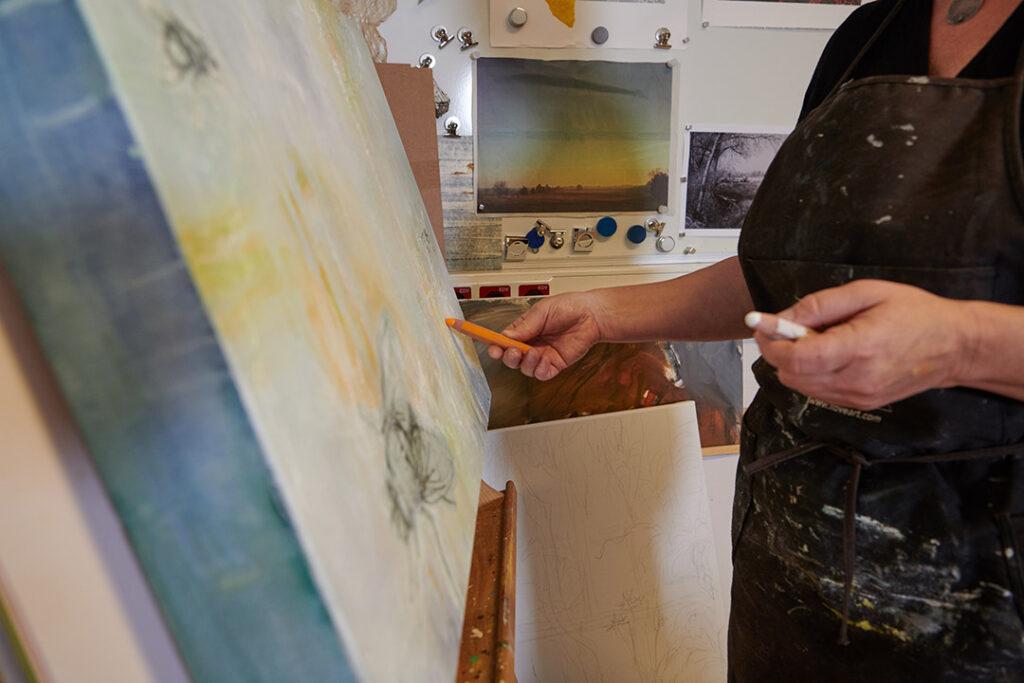kunstreiche Selbstoptimierung und Kreativität Im Prozess an Leinwand