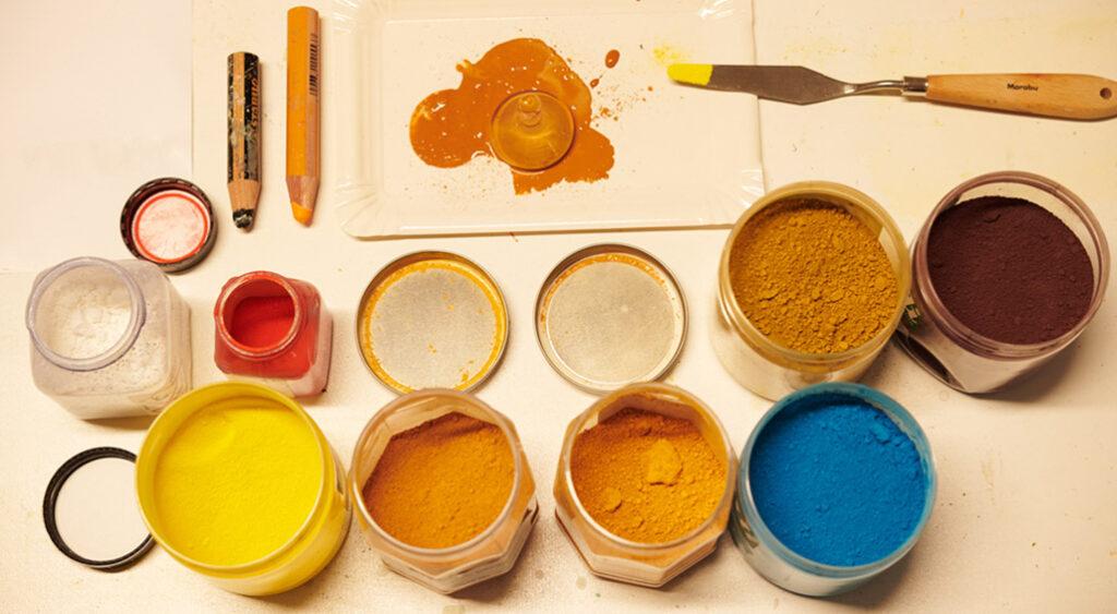 kunstreiche Selbstoptimierung und Kreativität Pigmente