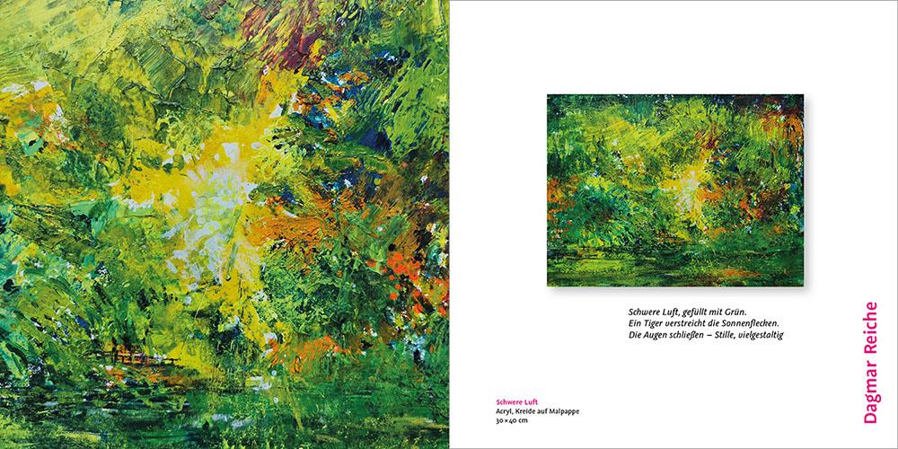 kunstreiche Kunst erleben KUBA Blättermeer und Blütenrausch - Mitgliederausstellung 2021 katalog reiche